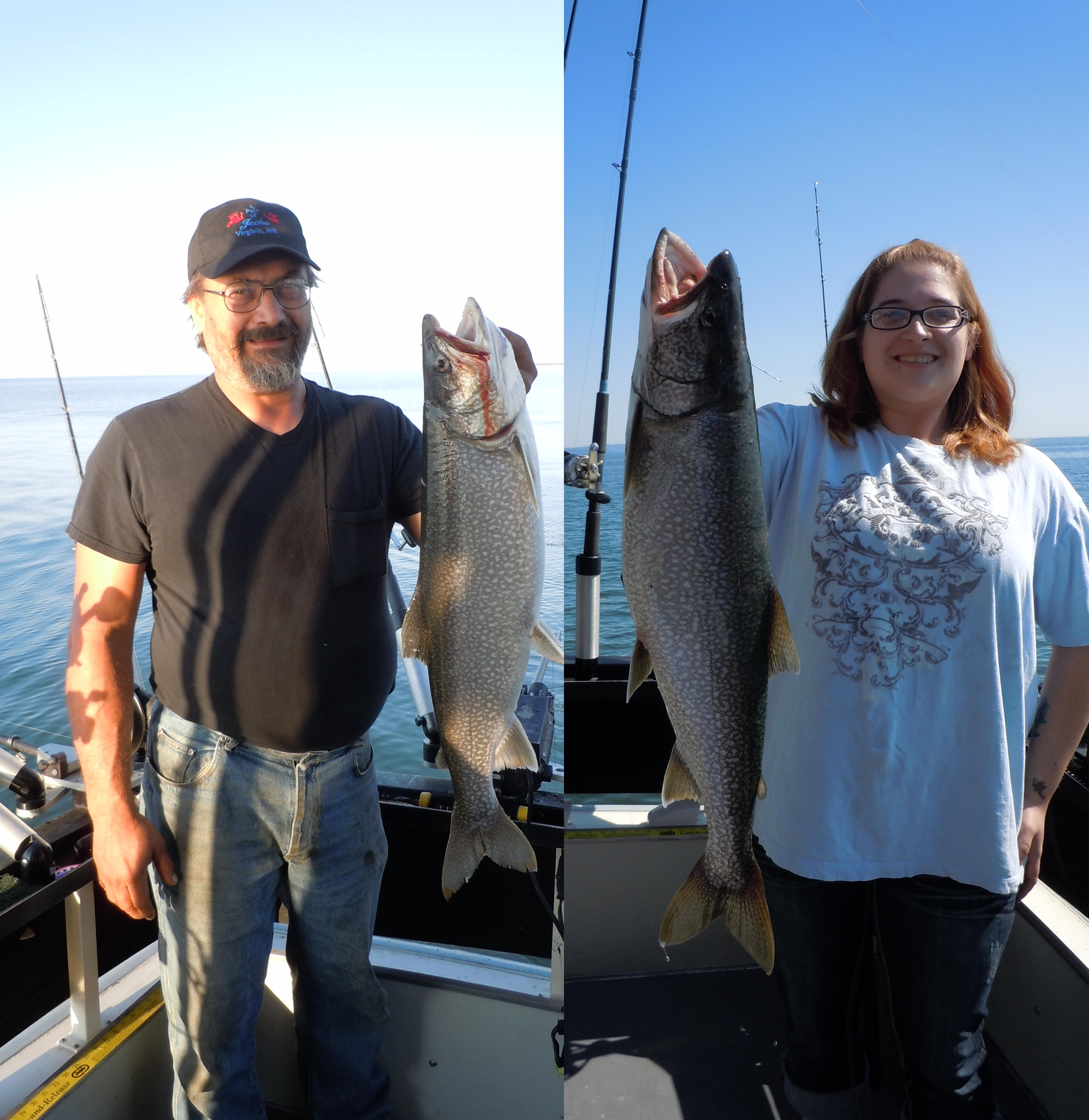 Kr double d copy lake superior fishing charter for Duluth mn fishing report